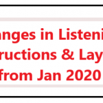 Changes in Listening Instructions