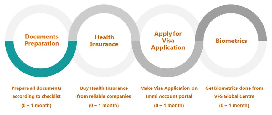 Visit Visa Process Flow