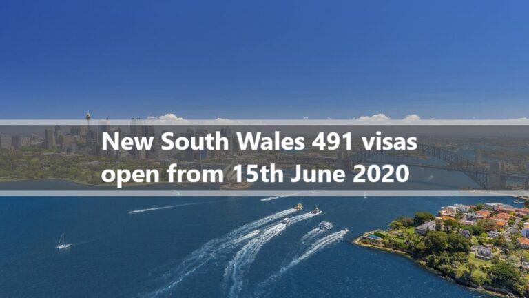 NSW 491 Visa Nomination opening