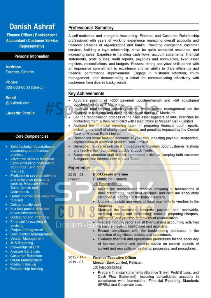 ATS Professional Accounts, Finance & CSR Resume