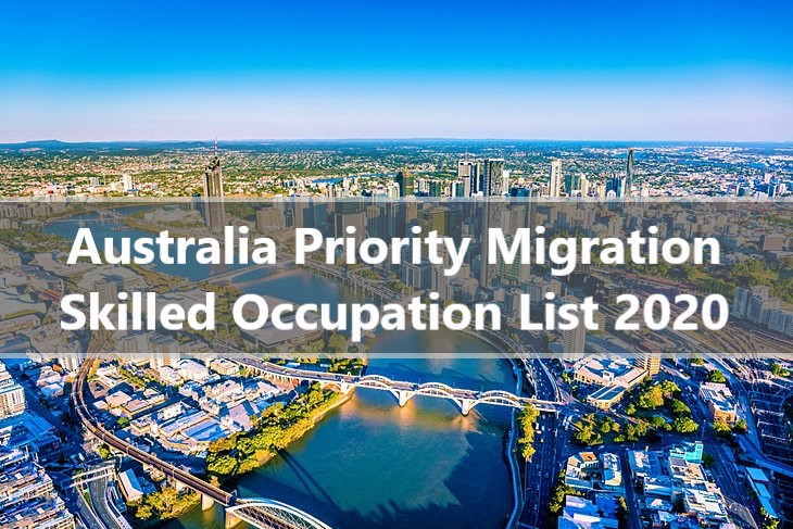 Australia Priority Migration Skilled Occupation List 2020